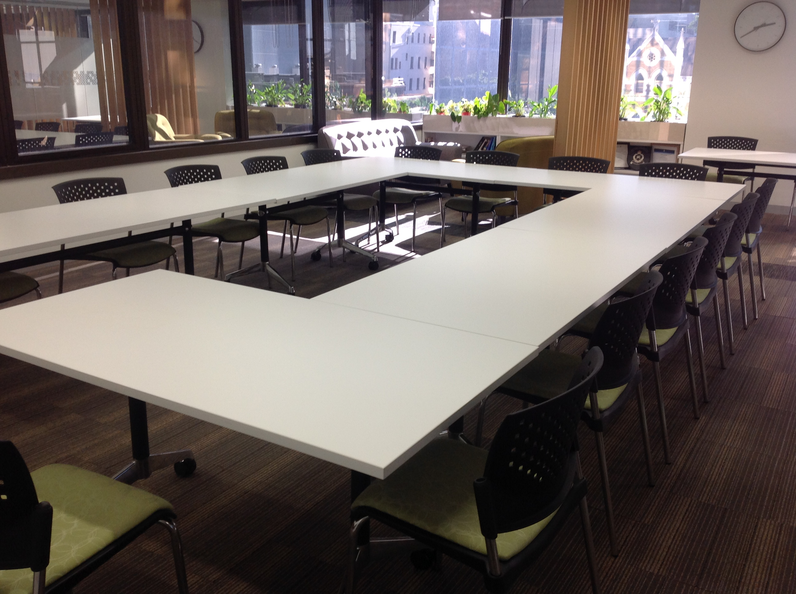 Training room hire Brisbane_U shape setup_15 people